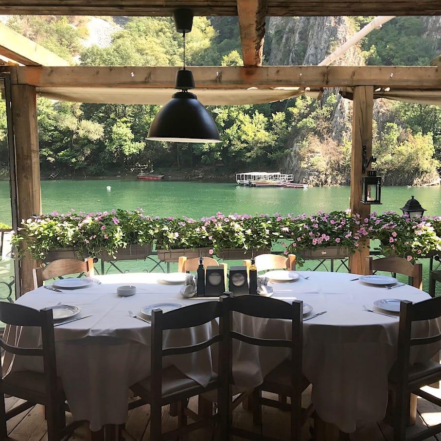 Lovely restaurant at Canyon Matka Hotel
