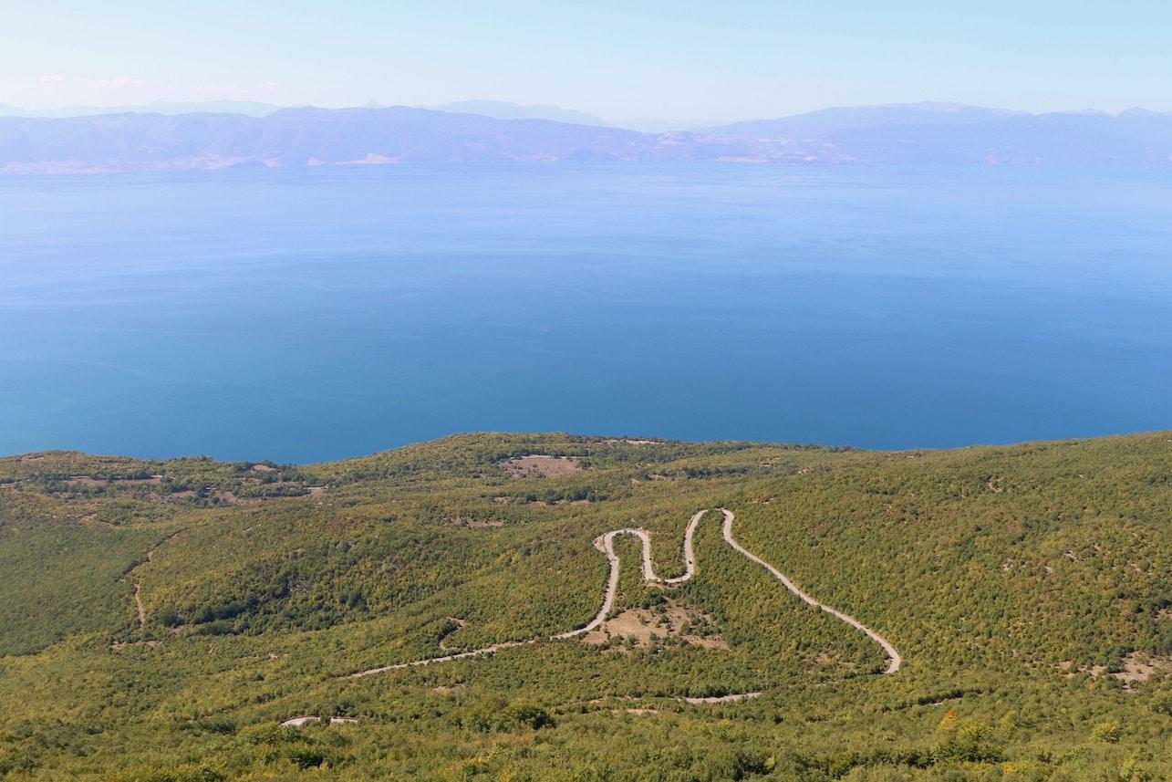 Winding mountain road to Bitola