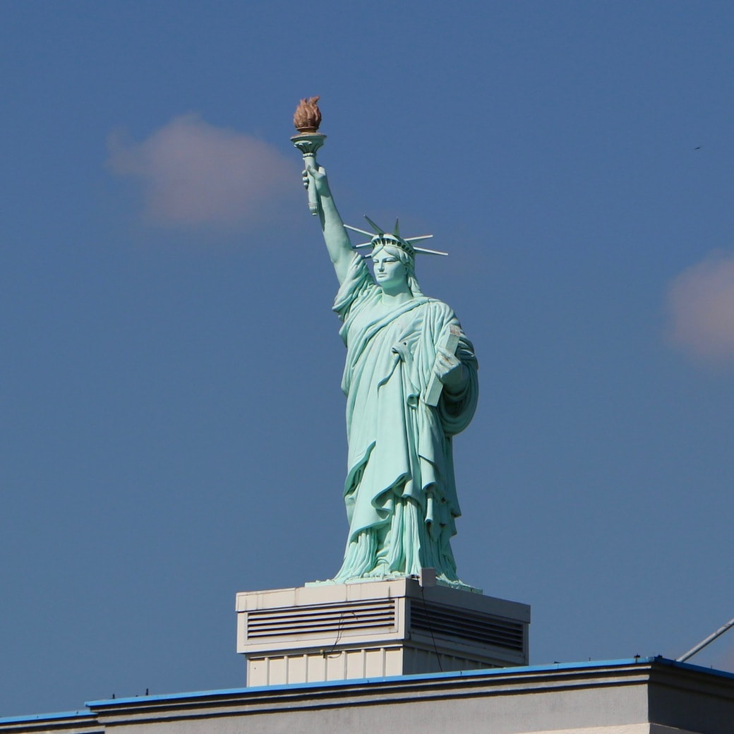 replica of the Statue of Liberty in Pristina