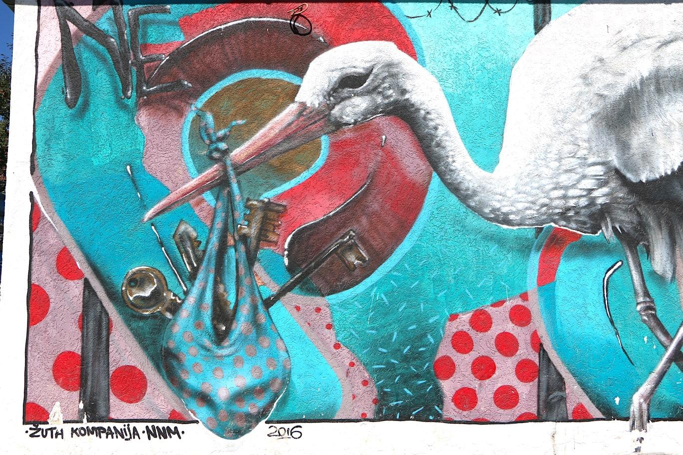 Gracanica street art