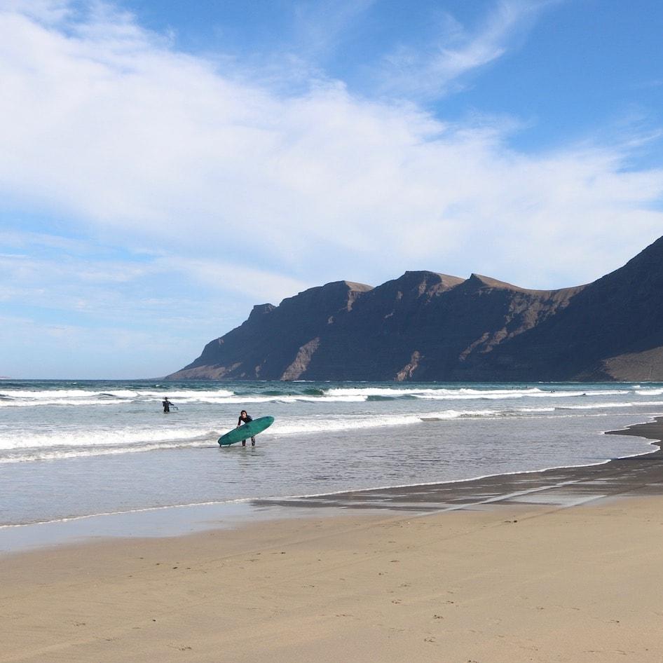 Surfer beach in Lanzarote