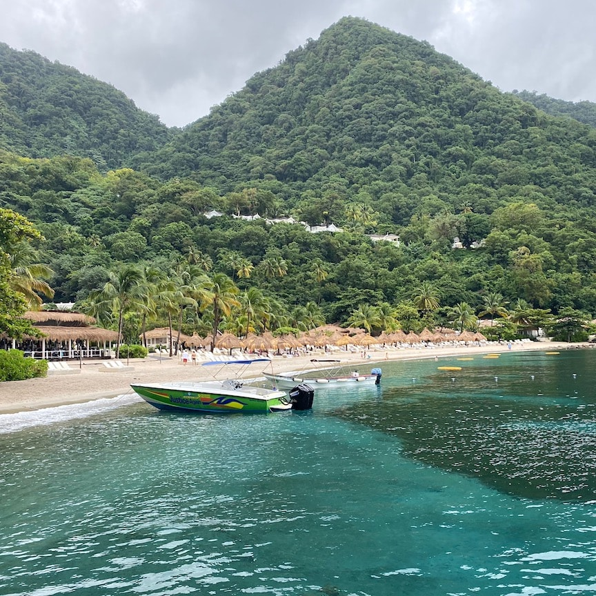 Sugar Beach on St. Lucia