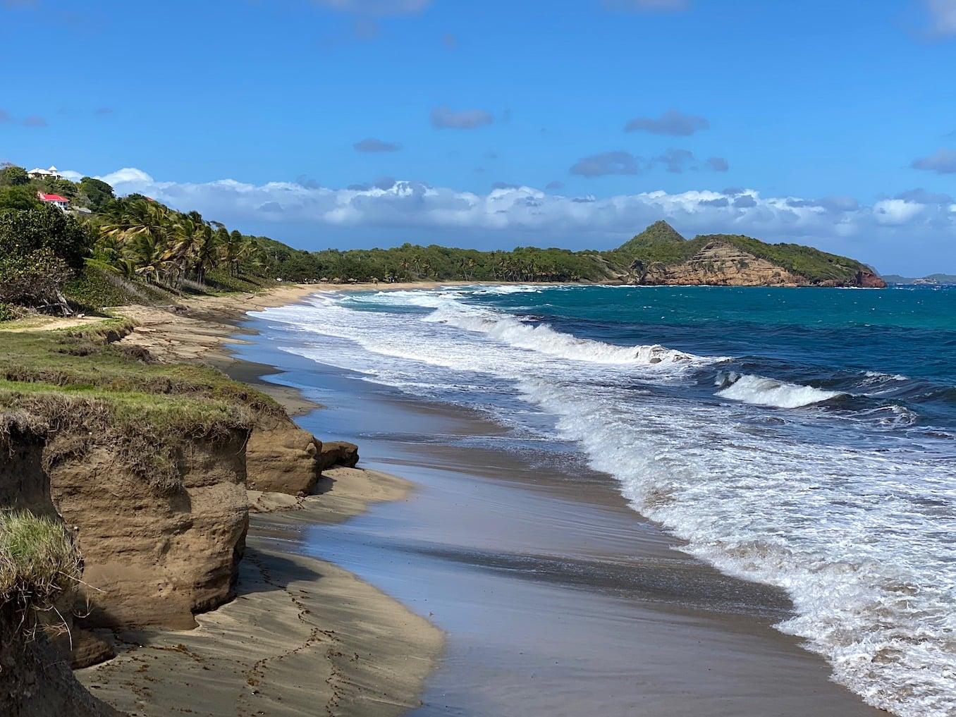 Wild beach in North Grenada