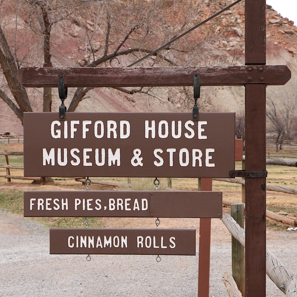 The famous pie in Capitol Reef NP