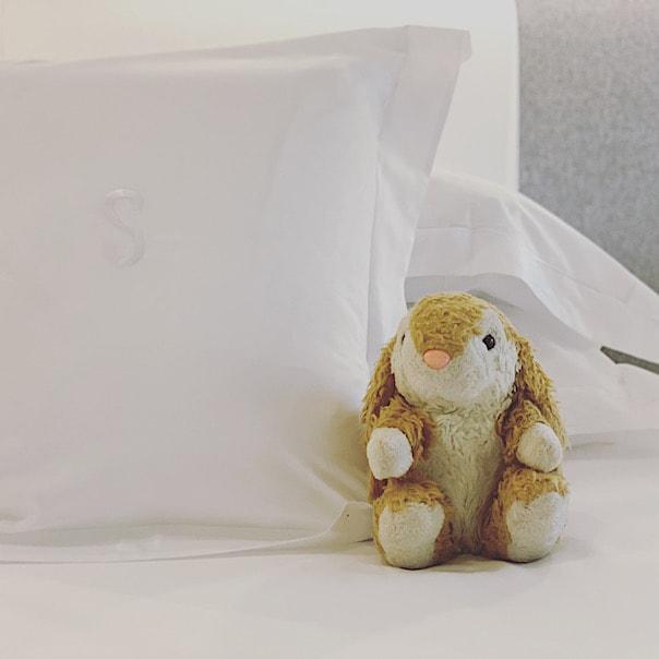 Bunny in her room