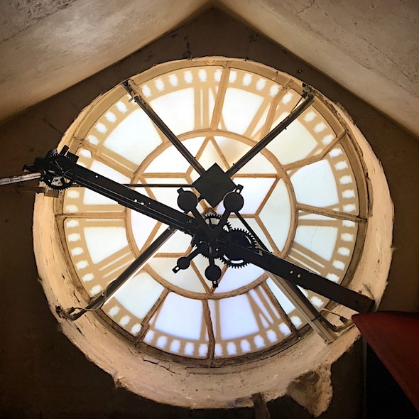 Behind the Abbey clock