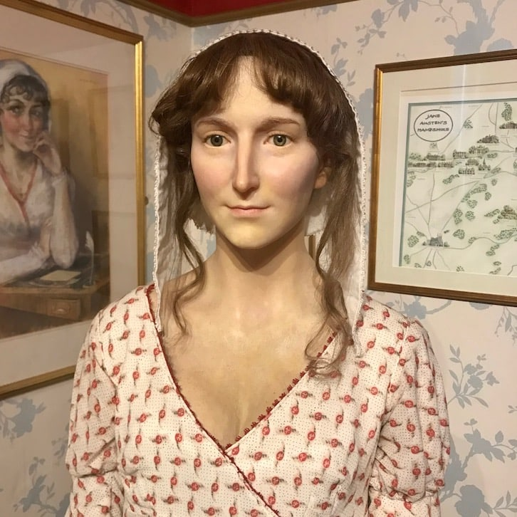 Jane Austin wax figure