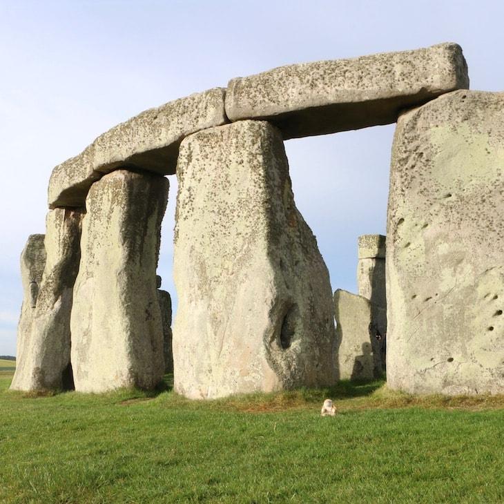 Bunny at Stonehenge