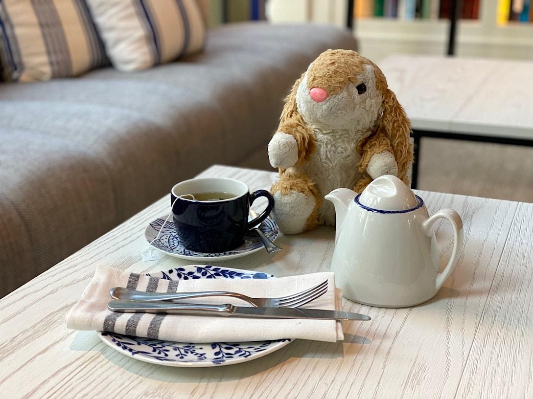 Bunny's tea moment