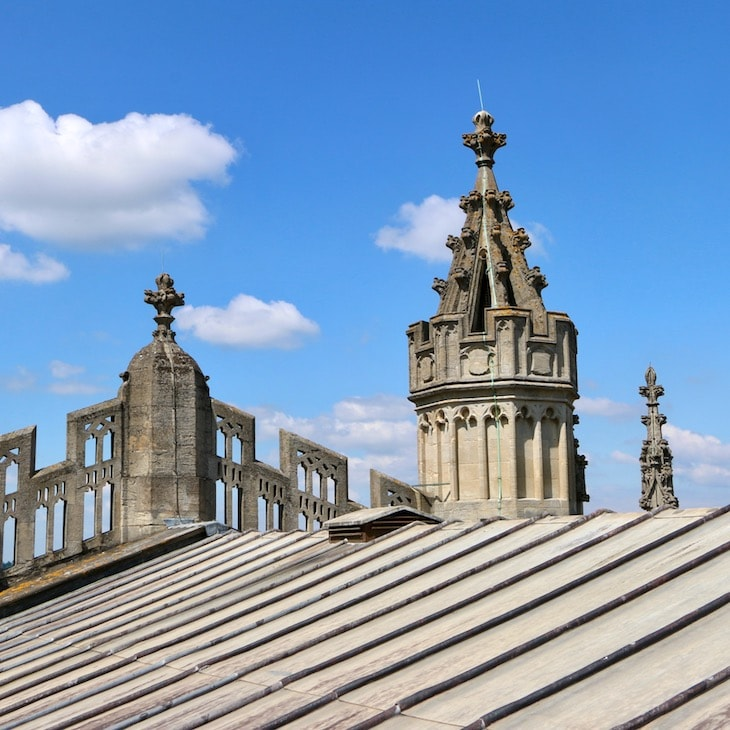 On the roof of Bath Abbey