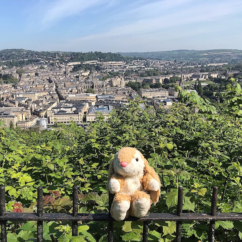 Admiring the view of Bath