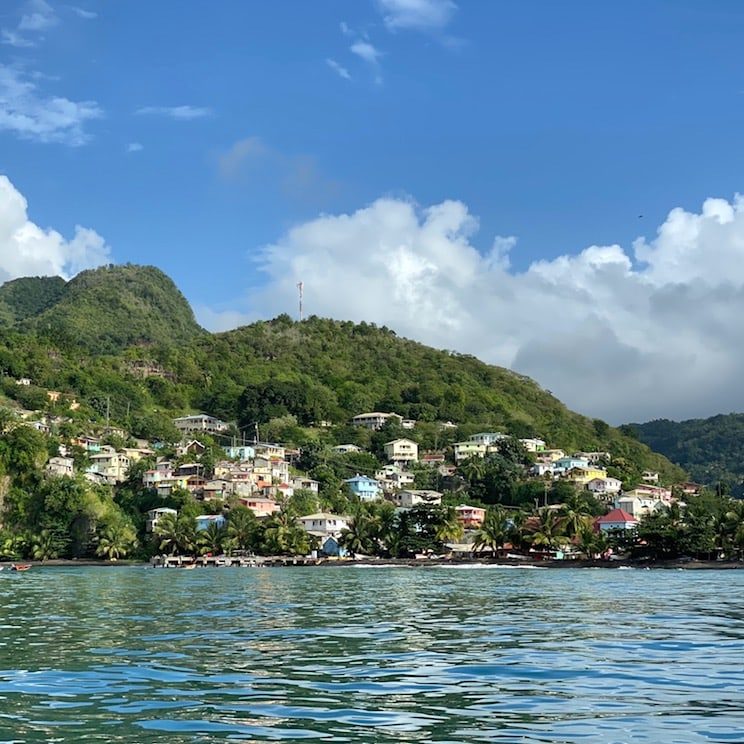 St. Lucia seen from the sea