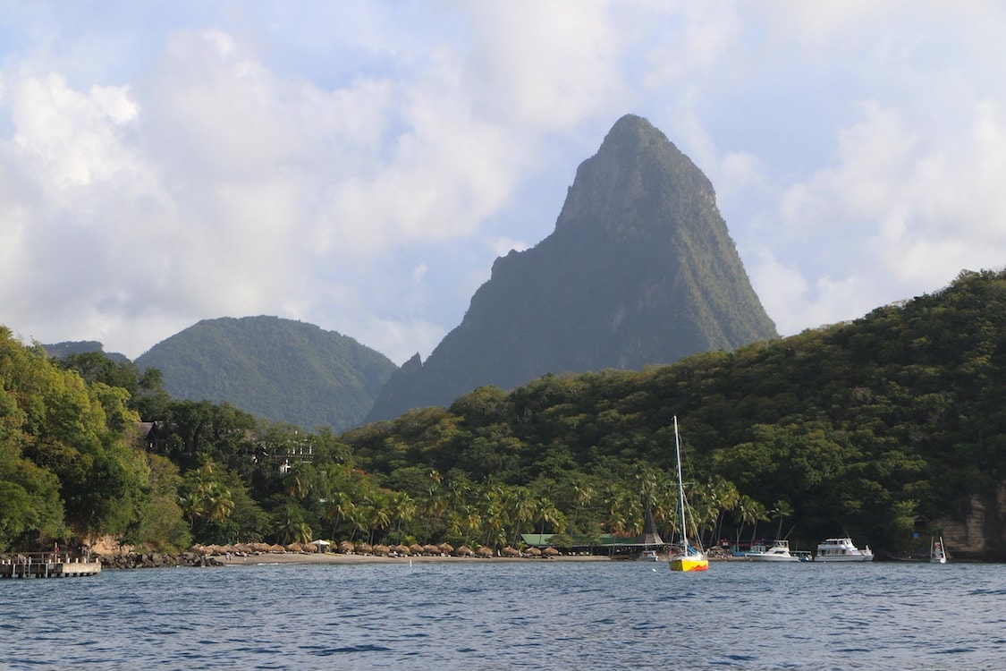 The famous piton in St. Lucia