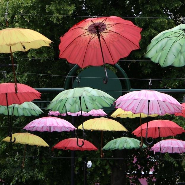 Umbrella street in York