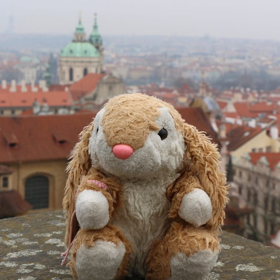 Cold winter day in Prague