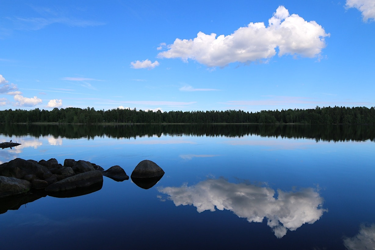 Finnish lake at summer time