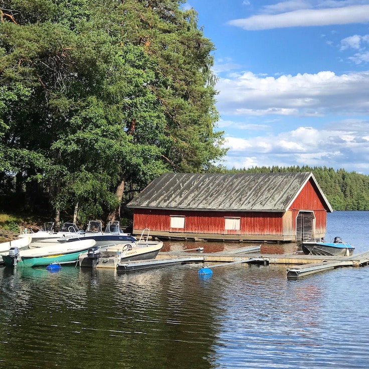 Finnish boat house