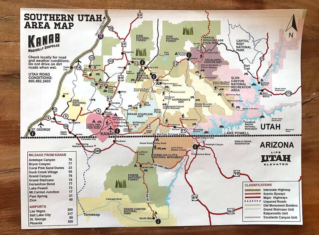 Useful map of the area