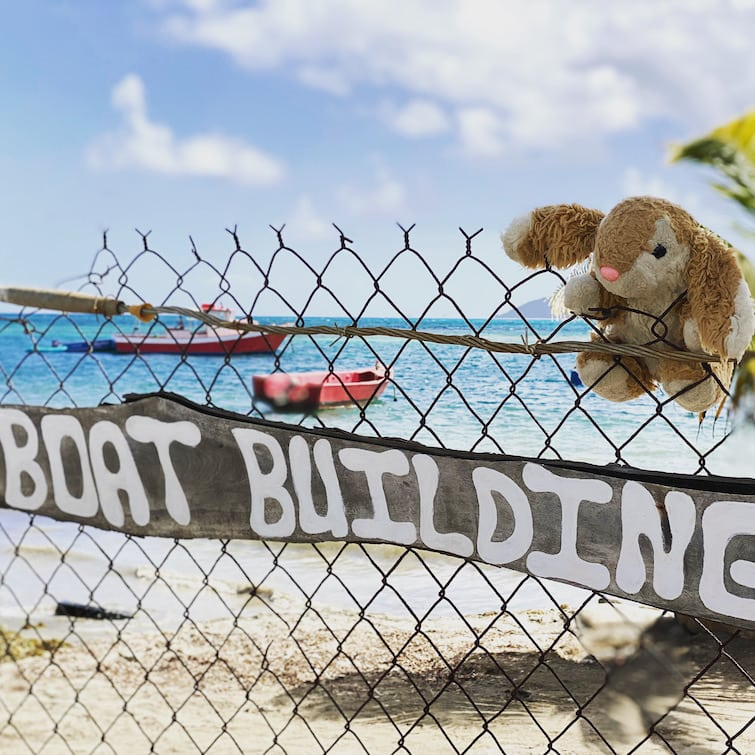 Carriacou boat building site